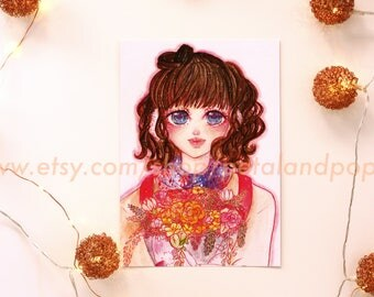 Rainbow Bouquet Illustration Print