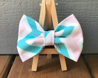 Pink and Blue Dog Bow Tie