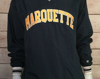 Rare Marquette University Pull over Jacket by Champion