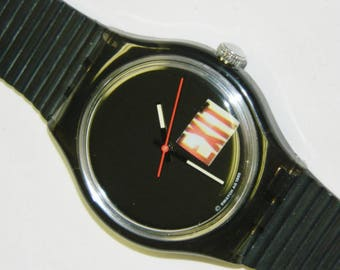 Swatch Way Out vintage plastic automatic conversion self winding watch with no battery