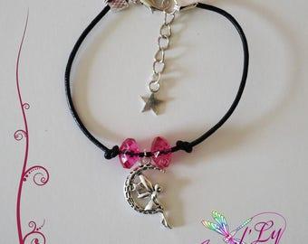 Fairy leather bracelet