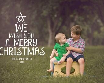 PRINTABLE CHRISTMAS CARD-We Wish You a Merry Christmas