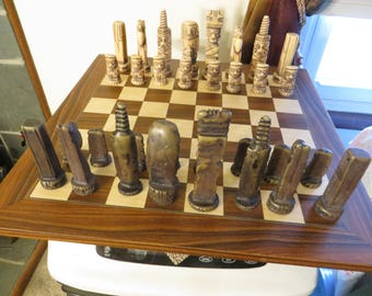 Mayan Aztec Totem Tribal Chess Pieces w/ free ship