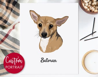 Custom pet illustration. Custom dog portrait. Pet portrait. Personalized gift pet. Digital file only - Draw me, please.