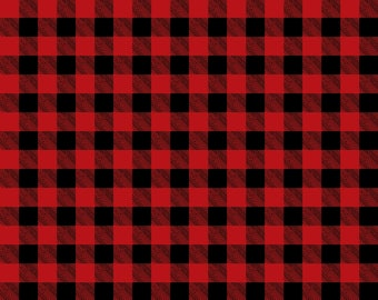 Red and Black Buffalo Plaid Print Vinyl  - Craft Vinyl - Flannel Pattern -  Buffalo Plaid Adhesive Outdoor Vinyl & HTV
