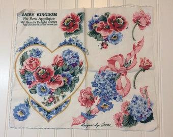 Floral Applique Daisy Kingdom Roses and Petunias Designs by Carol Daisy Kingdom Vintage Pink and Blue