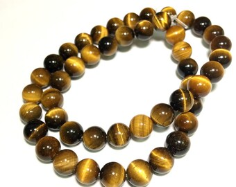 Natural Tiger Eye Beads 6 8 10mm Genuine Yellow Tiger Eye Beads High Quality A+ Yellow Gemstone Beads Tiger Eye Beads Tiger Eye Mala Beads