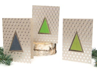 Quadu Christmas card – Tree – Silver
