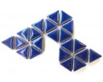 Triangle Ceramic Mosaic Tiles - Delphinimum - 50g (1.75 oz)