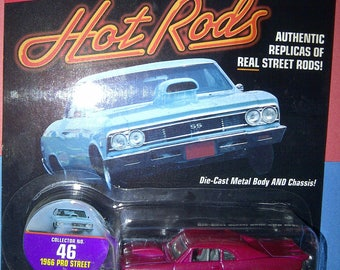 Hot Rods Street Rods 1966 Chevy Chevelle Pro Street by Johnny Lightning new on card