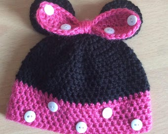 Disney Minnie and Mickey Mouse  crochet hats