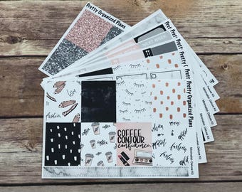 DELUXE KIT   Minimalist   Weekly Sticker Kit for Erin Condren Vertical Layout   8 Pages, 230+ Stickers