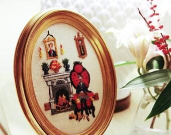 ON SALE Vintage Embroidery Art