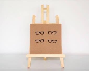 Glasses Greetings Card