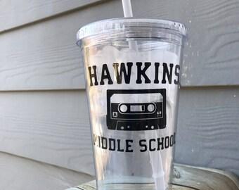 Stranger Things, Stranger Things Tumbler, Hawkins Middle School, AV Club, Eleven