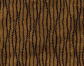 100% Cotton fabric by Half Yard increments - Mikado by Northcott - 20169-36 - brown and black stripe
