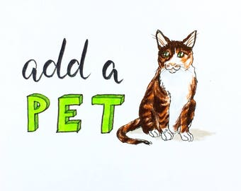Add a Pet to Any Custom Illustration, Add-on listing only