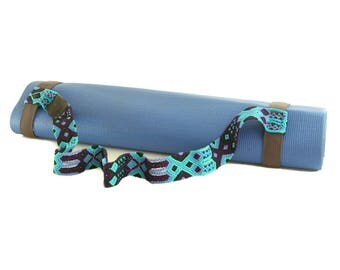 Yoga Mat Strap - Blue Skies