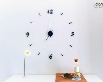 Birò   damuro (your wall clock kit) - Large 3D embossed wall clock, customizable