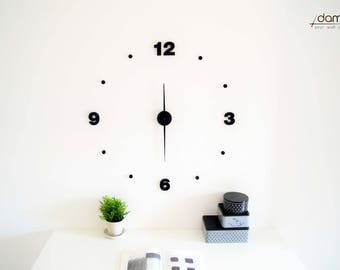 Bold   damuro (your wall clock kit) - Large 3D embossed wall clock, customizable