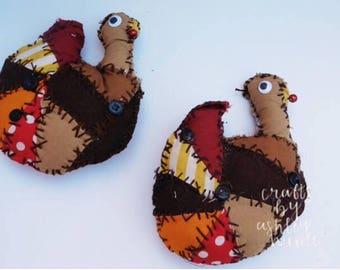 Primitive Turkey Ornament Bowlfiller Fall Decoration