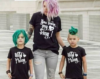 You Make My Heart Sing Mom and Me Tee Shirt Black Baby Toddler Mom Mama Matching Trendy Modern Music Valentines Outfit Mothers Fathers Day