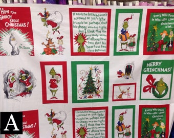 Dr. Seuss Fabric — How The Grinch Stole Christmas fabric from Robert Kaufman Fabrics (4 Options)