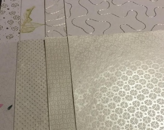 SUMMERCLEARANCE Lot of 41 White Scrapbook paper