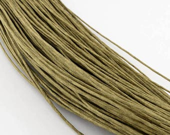 waxed cotton cord 0,7mm olive green light 10m