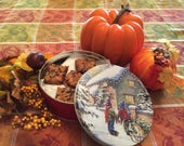 Sweet Bars in a Cookie Tin, Thanksgiving Cookie Tin, Cookie Care Package, Thanksgiving Cookie, Cookie Gift Basket Thanksgiving Hostess Gift