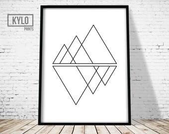 Geometry Print, Wall Art Print, Triangle Print, Geometry Art, Abstract Poster, Scandinavian Print , Modern Print, Minimalist Print, Triangle