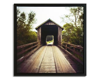 """Fine Art Photography """"Barta's Ranch"""" Framed Stretched Canvas"""