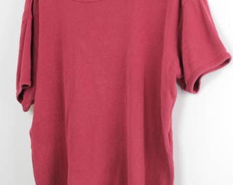 Burnt Red Knit Tee
