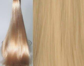 CHAMPAGNE BLONDE Nylon Doll Hair for Custom OOAK/Rerooting
