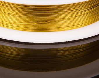 Reel of 0.3 mm gold color wire
