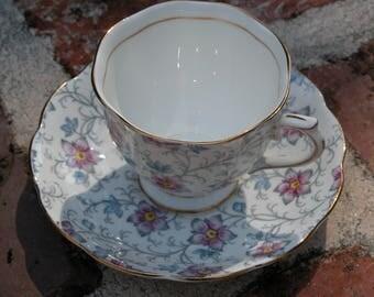 "Vintage Royal Albert ""Kendal"" Bone China Teacup and Saucer"