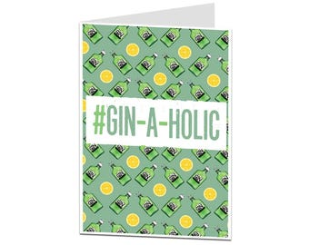 Funny Gin Birthday Card. Gin Drinkers Birthday Card. Birthday Card For The Gin Lover. Alcohol Theme Birthday Card.