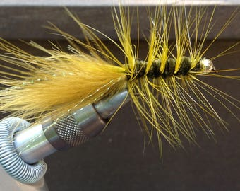 Fly Fishing Flies,  Dark Olive Wooly Buggers (3)