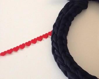 Finger knit Ribbon Choker