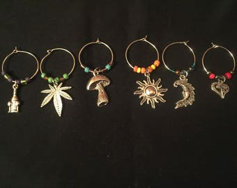 Custom wine glass charms