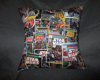 "Star Wars - Comic Covers, Millennium Falcon, + More Options 16"" x 16"" Decorative Throw Pillow (with Insert)"