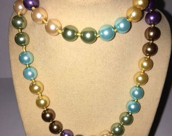 Beautiful Colors South Sea Pearl necklace