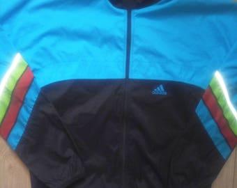 Adidas 90's Vintage Mens Tracksuit Top Jacket Windbreaker Lightweight