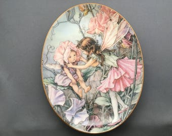 "Royal Worcester Flower Fairies 75 Years The Sweet Pea Fairy 6,3/4"" Collectors Plate"
