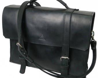 MENS LARGE BAG, bag for laptop men, leather briefcase men, leather large briefcase, black leather bag for men,mens leather shoulder bag