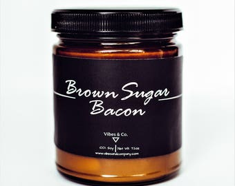 Bacon Scented Candle, Bacon Soy Candle, Bacon Lovers Candle, Bacon Lovers Gift, Smoked Bacon Candle, Sweet and Salty Bacon Scented Soy
