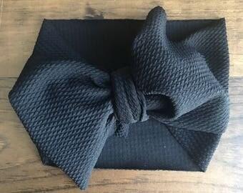 Black stretch wrap