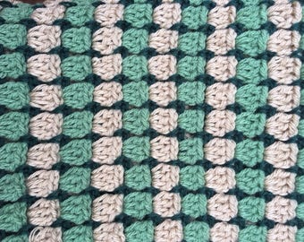Sage Hunter Tan Crochet Baby Blanket