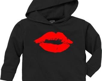 Toddler 50/50 fleece hoodie with Lips