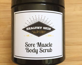 Sore Muscle body scrub with joint relief